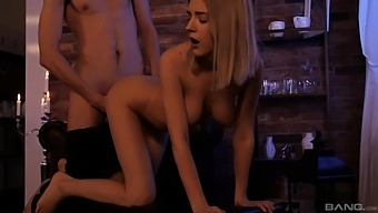 Naughty Babe Eva Elfie Gets Her Tight Pussy Banged From Behind
