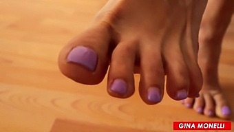 Mistress And Foot Slave - Feet Worship And Cum On Feet