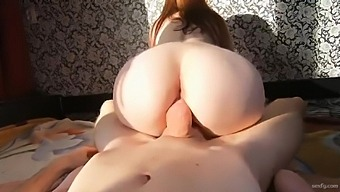 Amateur Babe Rides Cock And Gets Creampie