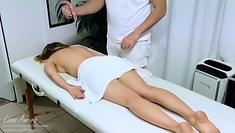 Step Mom Gets Massage By Stepson Who Make Her Cum With Wand Before To Fuck-Ac17