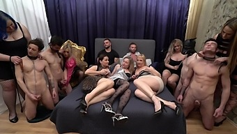 Massive Group Sex Party With Brittany Bardot And Horny Babes