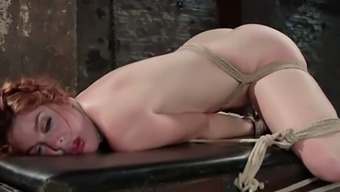 Suspending While Being Attached Amarna Miller Gets Handled Such As A Pieced Of Shit