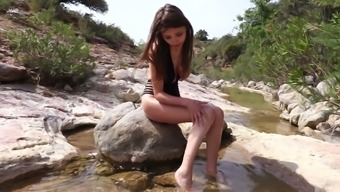 Classy Younger Product Milla Is Stripping And Masturbating Pussy Outdoor
