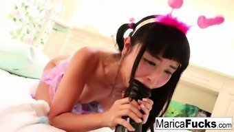 From Asia Porn Star Marica Hase Performs Having Big Attractive Toy