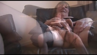 Hairy Granny In Stockings Soliciting And Generating