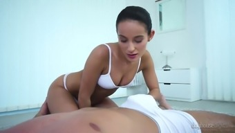 Brunet Masseuse Lexi Dona Loves Touching Challenging And Chunky Stick