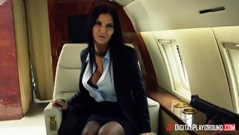 Jasmine Jae Fucked Challenging By A Generous Mankind On An Airliner