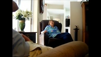 Guy Movements His Cock Despite The Fact That Conversing With A Grandma
