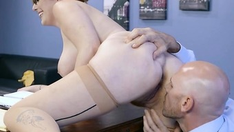 Hot Paralegal Lauren Phillips Gets Distorted Over By Counsel