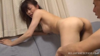 Japanese People Housewife Eriko Miura Gets Fondled And Fucked By Her Hubby