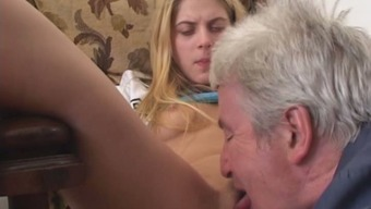 Hot Coed Rita Makes Her Old Co-Worker Eat Her Fairly Pink Pussy