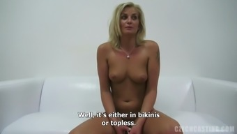 Blonde Milf Having Her Pink Clipped Pussy Thrilled By A Large Cock