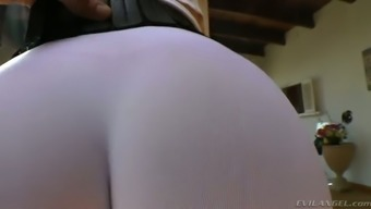Plus Sized Dirty-Minded Ginger Milf In This Kind Of Exercise Underwear Displays Her Inflation Butt