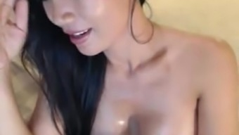 Horny Blonde Milf From Asia Brushing On Web Camera