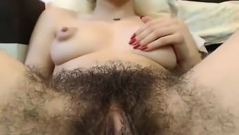 Heated Hairy Pussy By Using Major Nipples On Digicam