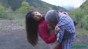 Asian Love Getting Her Pussy Licked And Fucked By Old Man Semen To Actually Butt Outdoor At