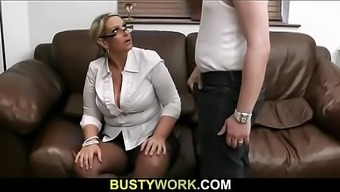Bbw Advances Both Legs For His Meat