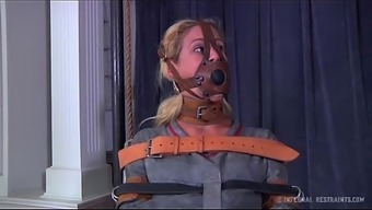 Blonde Milf Cherie Deville Fixed Gagged Within The Straitjacket And Mobility Device Smoke