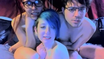 Beginner Date Gives Blowjob At Bisexual Sex Party