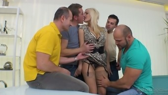 Attractive Czech Gal Brittany Bardot Is Serving A Range Of Men At The Same Time