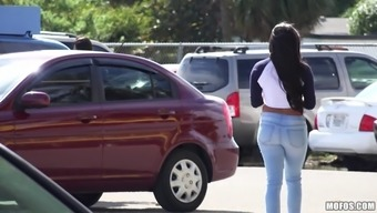 Ebony Hooker Compensated To Actually Moment Her Titties And Fuck Hard-Core In Public