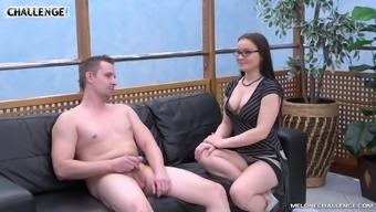 Nerdy Looking Darling Is Ready To Open Her Mouth And Suck That Cock