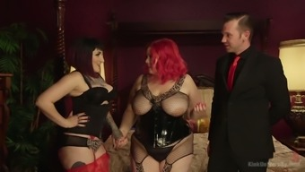 Goth Bitch And Chubby Hooker Camille Black Are Fucked By One Kinky Dude